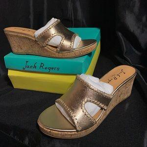 NWT SIZE 7.5M Jack Rogers Sloan Mid Wedge